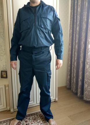 Человічий синий рабочий костюм