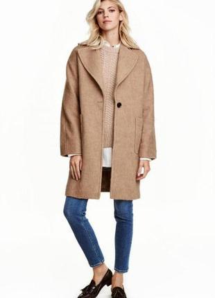 Пальто из смесовой шерсти h&m 044218500