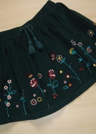 Красивая вельветовая юбка 5лет