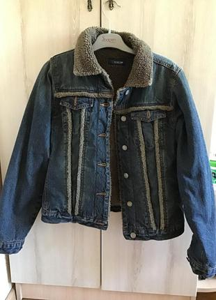 Женская тёплая джинсовая куртка