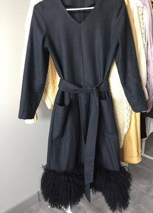 Платье шерсть теплое zara
