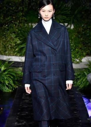 Эксклюзивное подиумное  пальто премиум  шерстяное оверсайзh& m