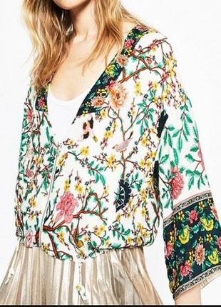 Трендовая блуза- бомбер кимоно zara