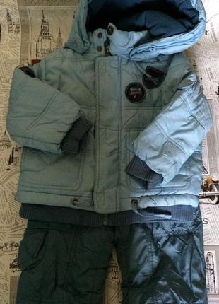 Комбинезон зимний костюм зима 86 см