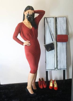 Бордовое классное платье 😍