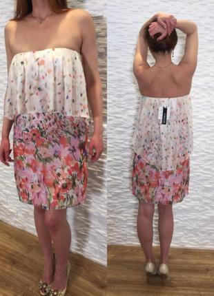 Max mara шелковое платье сарафан цветочный принт