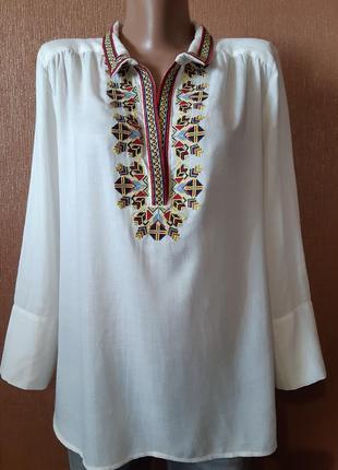 Блузка вышиванка размер 12 gerard darel paris