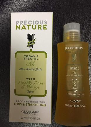 Alfaparf milano precious nature prickly pear & orange масло для волос.