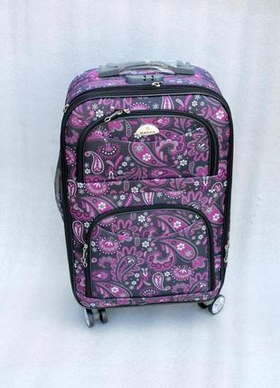 Чемодан, валіза, дорожный чемодан, тканевый,средний