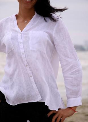 Льняная рубашка базовая