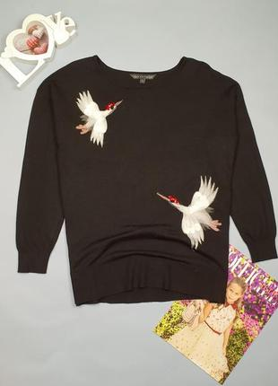 Джемпер с принтом птичек love knitwear