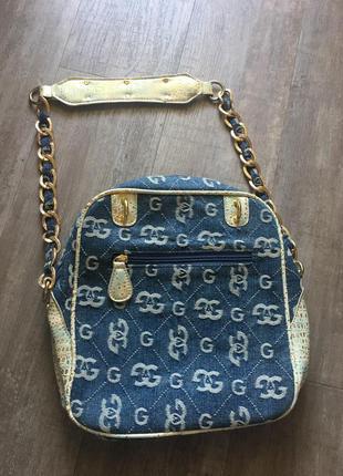 Джинсова сумочка gag з вишукаю фурнітурою2 фото