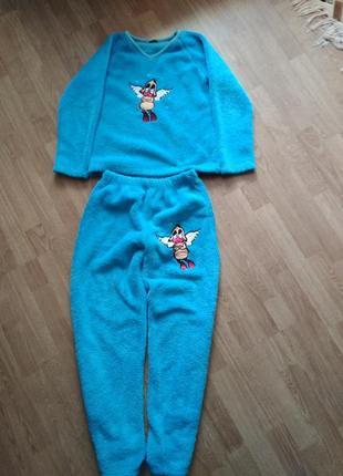 Пижама домашний костюм флисовый махровый