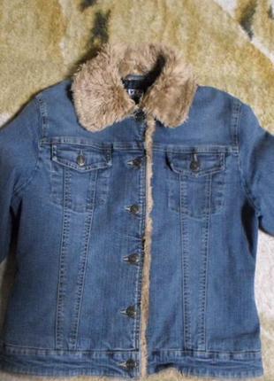 Куртка женская джинсовая с подкладкой