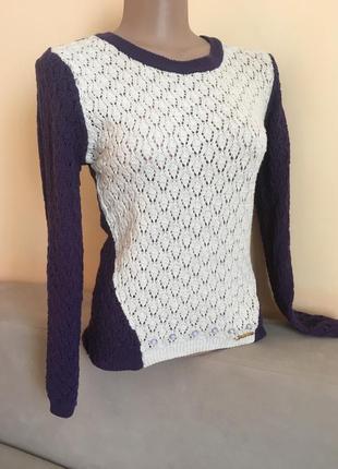 В'язана фіолетова кофта свитер свитшот