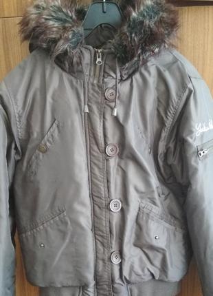Стильная тёплая куртка зима