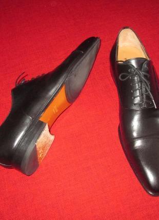 Черные оксфорды magnanni кожаные туфли р. 45