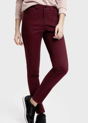 Стильные брюки скинни ostin штаны хлопок