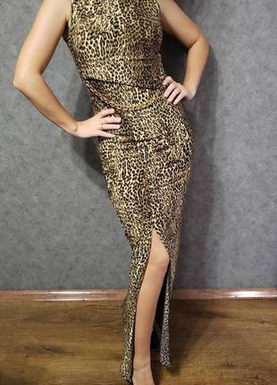 Леопардовое вечернее платье