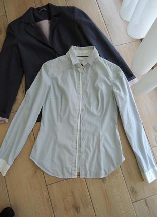 Рубашка в полоску zara woman размер s-m