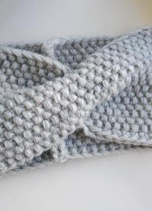 Теплая чалма тюрбан повязка вязаная