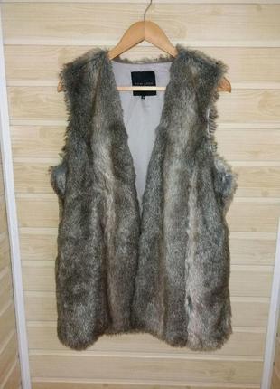 Меховая теплая жилетка р.l-xl new look