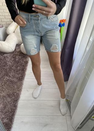 Шорты джинс бриджи