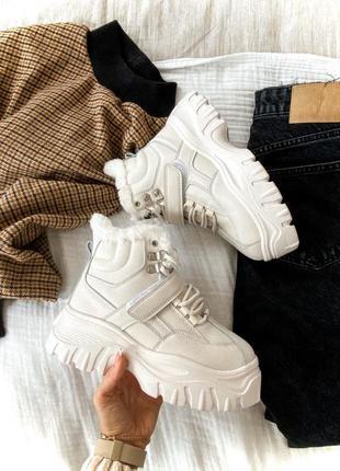 Buff boots буф бутсы кроссовки кроссы высокие ботинки утеплённые демисезонные