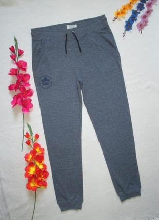 Суперовые трикотажные стрейчевые меланжевые спортивные брюки высокая посадка aqfa