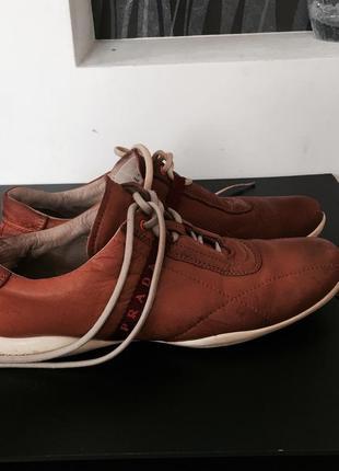 Кроссовки кожаные prada оригинал