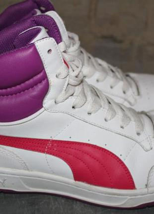 Демисезонные кроссовки,ботинки,хайтопы puma.38,5 размер.кожа.