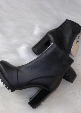 Кожаные ботинки zara оригинал испания