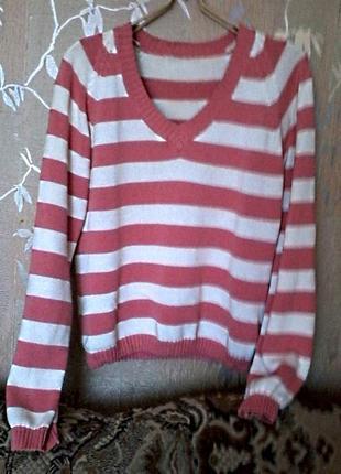 Джемпер пуловер яркой расцветки