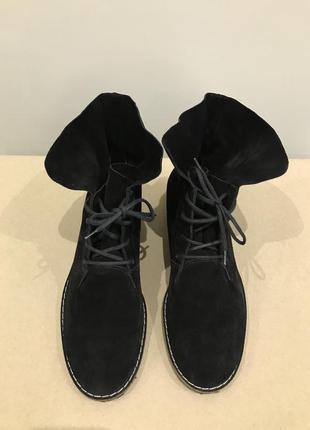 Замшевые ботинки на шнурках paul green размер 38,5