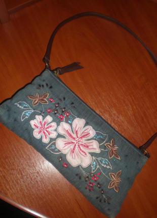 Джинсовая сумочка, клатч next nex)