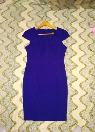 Платье футляр синее new look