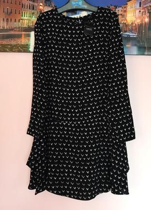 Крутое платье с рюшами