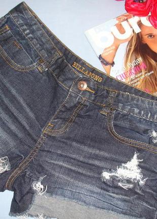 Женские шорты джинсовые размер 46 / 12 короткие летние модные темные крутые шортики