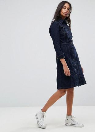 Новое стильное джинсовое платье lee button through authentic 100% cotton