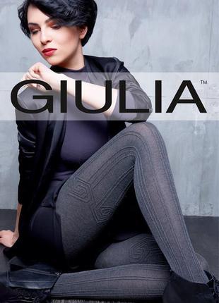 Теплые женские хлопковые колготки с узором 200 ден giulia