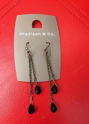 Сережки серьги цепочки капли