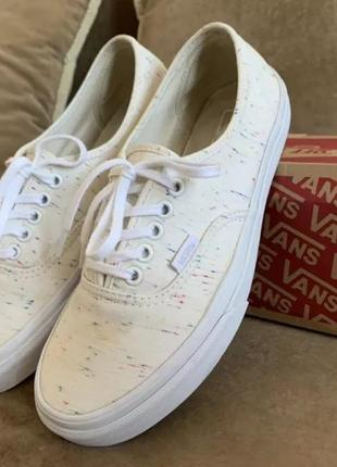 Кеды vans authentic (speckle jersey) cream
