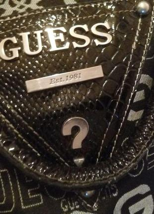 Брендовая сумка сумочка бочёнок боченок guess. монограммный текстиль