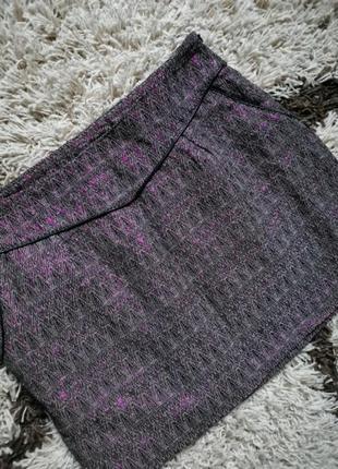 Юбка bonobo jeans мини с карманами и нитью люрекс