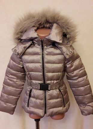 Стильная пуховая куртка фирмы zara kids