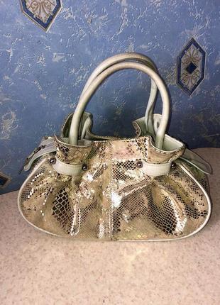 Кожаная сумка b. cavalli soul vera pelle