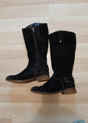 Зимові замшеві сапожки, чоботи. 39 р