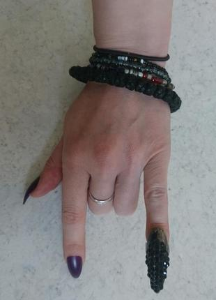 Кольцо коготь со стразами