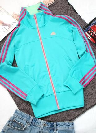 Бирюзовая спортивная кофта адидас л размер 40 adidas  оригинал
