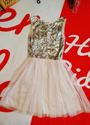 Платье вечернее пайетки фатиновая юбка сеточка
